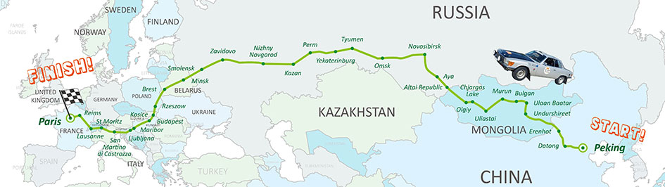 Peking to Paris 2016 Route